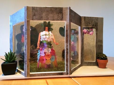 Miniatuur winkel Flower - planten etalage