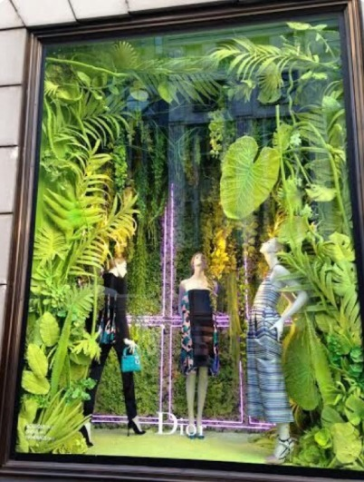 Etalage Dior - Trend Greenery