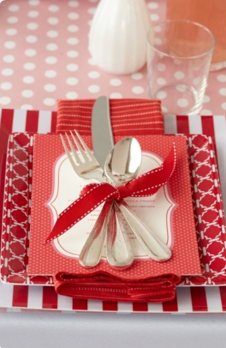 Valentijd tafel decoratie