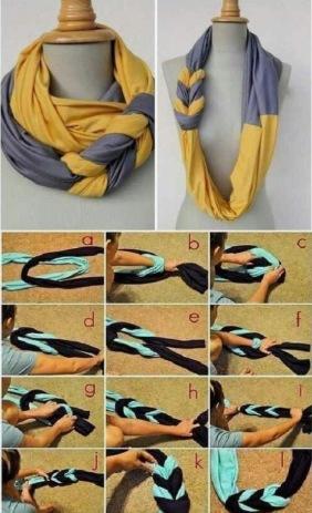 Sjaals plooien