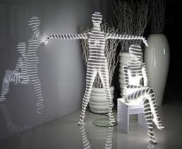 Etalage led manequins