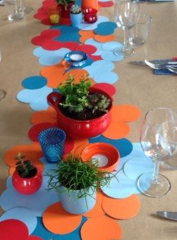 kleurvormige cirkel decoratie