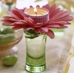 decorate bloem kaars
