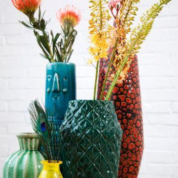 bonte kleuren vazen