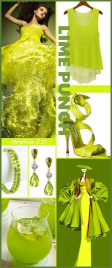 moodboard lime punch lente-zomer 2018