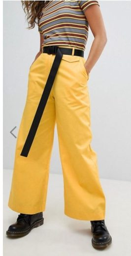 Asos Fashion stripes black yellow