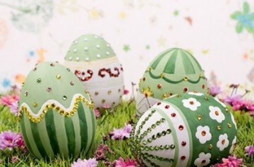 easter egg flowers design