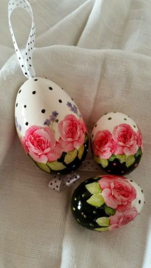 easter egg polka dots flowers