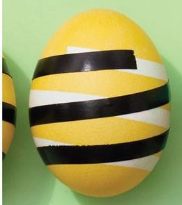 easter egg stripes yellow black