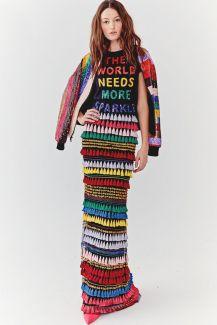 Fashion week Vogue 2018 Alice en Olivia rainbow