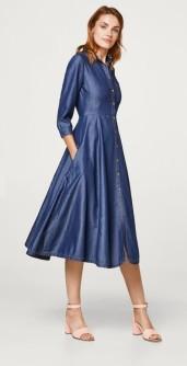 esprit blauwe denim jurk