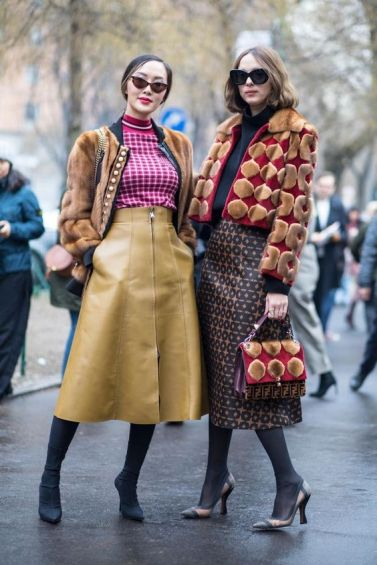 streetstyle trend-prints-outfit fall-winter2018-19