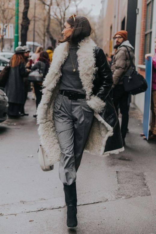trend-sheepskin-outfit fall-winter2018-19 @collagevintage