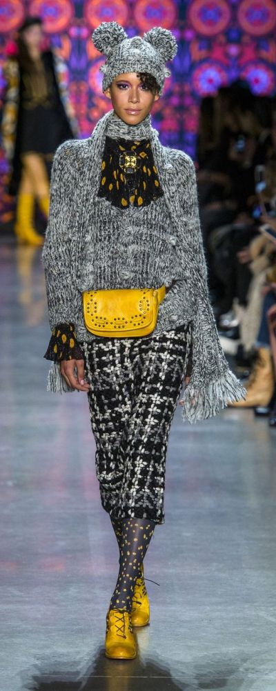 trend-tweed-outfit fall-winter2018-19-AnnaSui @orientpalms